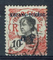 Kouang-Tcheou, Guangzhouwan (French China), 10c., Indochina Overprint, 1908, VFU - Kouang-Tcheou (1906-1945)