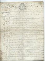 CACHET DE GENERALITE DE TOURS SUR PARCHEMIN - -4 PAGES  1780 - Algemene Zegels