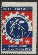 France 1937 Vignette Foire De Chalon-sur-Saône Ville D'affaires Neuf Avec Restant De Charnière Et Adhérences. Cinderella - Erinnophilie