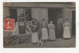 CARTE PHOTO - NANTES - CAFE - VEUVE DEROUIN - QUAI DE LA FOSSE - 1907 - 44 - Nantes