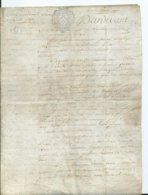 CACHET DE GENERALITE DE TOURS SUR PARCHEMIN - -4 PAGES  1784 - Cachets Généralité