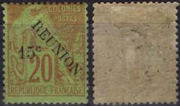 REUNION   30 * MLH Type Alphée Dubois Surchargé 1891 (CV 25 €) - Reunion Island (1852-1975)