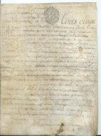 CACHET DE GENERALITE DE TOURS SUR PARCHEMIN - -4 PAGES  1780 - Cachets Généralité