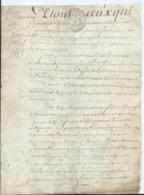 CACHET DE GENERALITE DE TOURS SUR PARCHEMIN - -4 PAGES  1785 - Seals Of Generality