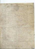 CACHET DE GENERALITE DE TOURS SUR PARCHEMIN - -4 PAGES  1786 - Cachets Généralité