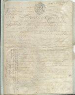 CACHET DE GENERALITE DE TOURS SUR PARCHEMIN - -4 PAGES  1789 - Cachets Généralité