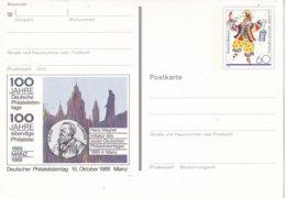 """Duitsland - 15 Oktober 1989 - Sonderpostkarte - """"100 Jahre Deutsche Philatelistentage"""" - M Pso 18 - [7] West-Duitsland"""