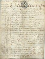 CACHET DE GENERALITE DE TOURS SUR PARCHEMIN - -4 PAGES  1790 - Cachets Généralité