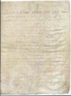 CACHET DE GENERALITE DE TOURS SUR PARCHEMIN - -4 PAGES 1789 - Seals Of Generality