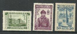 MONGOLIA Mongolei 1932 Michel 49 & 52 & 54 */(*) - Mongolei