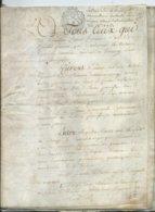 CACHET DE GENERALITE DE TOURS SUR PARCHEMIN - 12 PAGES 1788 - Seals Of Generality