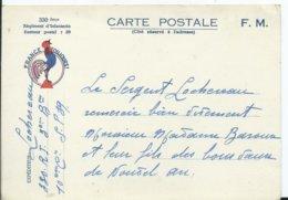 CARTE DE FRANCHISE MILITAIRE - Marcophilie (Lettres)