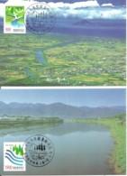 Carte Maximum - Taiwan - Formose - Set Of 2 Cards - Tung Shan River - 1945-... Republic Of China