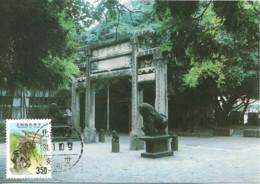 Carte Maximum - Taiwan - Formose - Chinese Gate And Statue - 1945-... Repubblica Di Cina