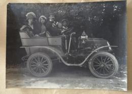 Photographie Ancienne De Famille CHABERT Automobile De Dion Bouton Photo Tacot  16x12 - Persone Identificate