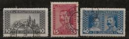 Bosnie-Herzégovine 1917 N°Y.T. : 117 à 119 Obl. - Bosnie-Herzegovine