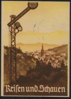 1938 Germany Magdeburg Mittellandkanals. Canal Opening, Reichsbahn Postcard - Allemagne