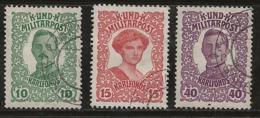 Bosnie-Herzégovine 1918 N°Y.T. : 138 à 140 Obl. - Bosnie-Herzegovine