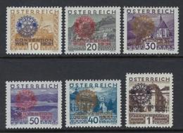 AUSTRIA 1931 ROTARY SET Nº 398A/398F * MH - 1918-1945 1a Repubblica