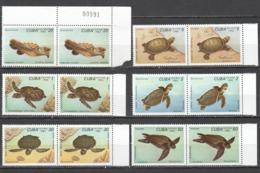 D768 1983 CUBA FAUNA ANIMALS REPTILES TURTLES 2SET MNH - Schildpadden