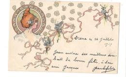 CPA ILLUSTREE ART NOUVEAU - PORTRAIT DE FEMME ( Carson) - (Clément Tournier Cie Genève) - - Other Illustrators