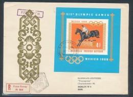 Mongolei -R.-Brief  Mit Block Von 1968 ( Zz9653  ) Siehe Scan - Mongolei