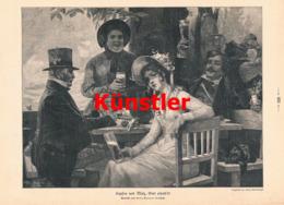 1588 Hans Jentzsch Hopfen Malz Wein Bier Wirtschaft Druck 1911 !! - Stampe