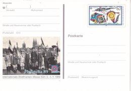 Duitsland - 3 November 1989 - Sonderpostkarte - Internationale Briefmarkenausstellung PHILATELIA '89, Köln - M Pso 19 - [7] West-Duitsland