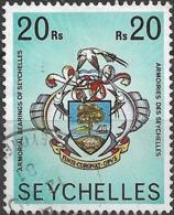 SEYCHELLES 1977 Marine Life - 20r - Coat Of Arms FU - Seychellen (1976-...)