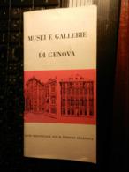 8a) GENOVA ENTE TURISMO MUSEI E GALLERIE 28 PAGINE BROCHURE DEPLIANT BUONO STATO - Dépliants Turistici