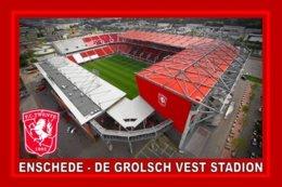 CARTE DE STADE . ENSCHEDE  BELGIQUE   DE GROLSCH  VESTE STADION   # CS. 372 - Football