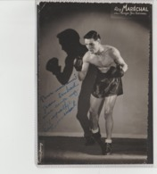 .BOXING.BOKSEN. PHOTO. Lansival   BOXEUR RAY MARECHAL  MANAG. JEAN BRETONNEL   SIGNEE. AUTOGRAPHE - Boxing