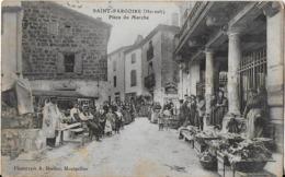 SAINT PARGOIRE ( Hérault ) : Place Du Marché Superbement Achalandée ( 1915 ) - Frankreich