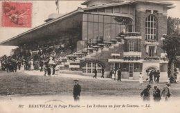 Deauville, La Plage Fleurie - Les Tribunes Un Jour De Courses - Deauville