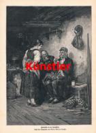 1605 Albert Müller-Lingke Botaniger Sennhütte Sennerin Druck 1887 !! - Estampes