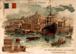 CHROMO BISCUITS PERNOT LES GRANDS PORTS DU MONDE  MARSEILLE - Pernot