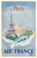 """¤¤   -  Carte Publicitaire """" AIR FRANCE """" -  Aviation  -  PARIS, Tour Eiffel  -  Illustrateur       -  ¤¤ - Aviation"""