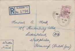 Einschreibebrief-1948-GLASGOW - 1902-1951 (Rois)