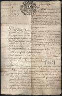 Documents Historiques TIMBRE DE DIMENSION 1733 GABELLE Ecu Aigle De Savoie Couronné Sardaigne Fiefs Marthod (Dhuines) - Documents Historiques