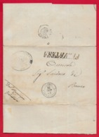 COLLETTORIA EX PONTIFICIO - 1871 Lettera Senza Testo Con Bollo Pontificio FALVATERA - Bollo Ambulante NAPOLI ROMA - Italien