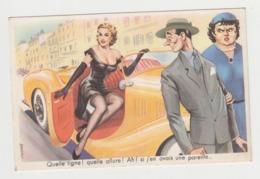 BA575 - Illustration Signée Louis Carrière - Femme Pin-up - Belle Voiture - Quelle Ligne !  Quelle Allure ! .... - Carrière, Louis