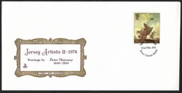 1974 - JERSEY - FDC + SG 115 [Peter Monamy] + JERSEY - Jersey