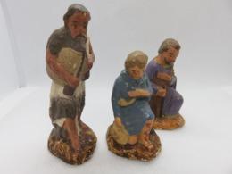 530 - Anciens Santons De Crèche Noel  - Bergers - Devineau - Santons