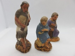 530 - Anciens Santons De Crèche Noel  - Bergers - Devineau - Santons, Provenzalische