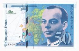 50 Francs St Exupéry 1993 Série K006338478 , Billet Neuf. - 1992-2000 Ultima Gama