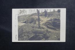 MILITARIA - Carte Postale Photo - Tranchées Sur Le Front - L 48076 - Guerre 1914-18