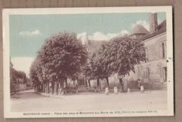 CPA 36 - BUZANCAIS - Buzançais - Place Des Jeux Et Monument Aux Morts De 1870 - TB PLAN CENTRE VILLAGE - France