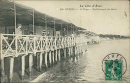 83 HYERES / La Plage - Etablissement Des Bains / - Hyeres