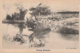 FISHING MINNOWS - BELLE CARTE D'UN PECHEUR TRES ATTENTIF - 2 SCANNS -  TOP !!! - China