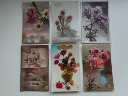 Beau Lot De 60 Cartes Postales De Fantaisie  Fleurs Fleur   Mooi Lot Van 60 Postkaarten  Bloemen Bloem - 5 - 99 Cartes